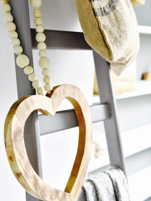 houten hart woonketting