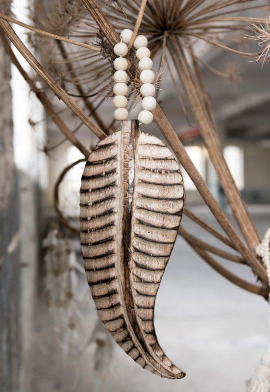 houten veer, wooden feather