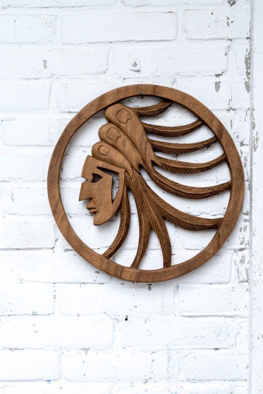 indiaan, houten indiaan, wooden indian
