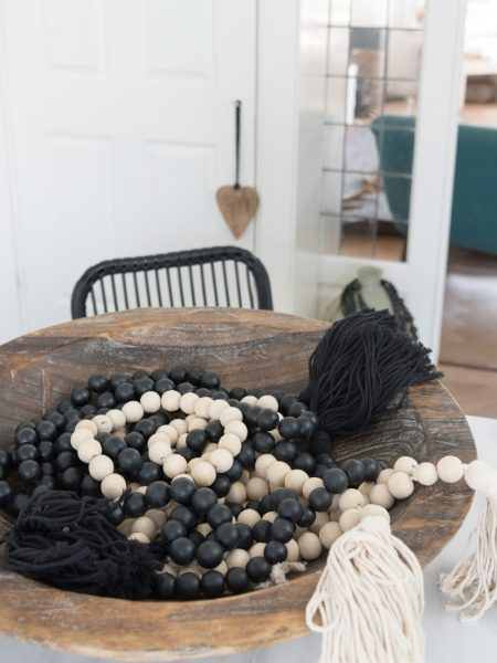 kralenketting XL, woonketting madumadu, garland, wooden garland, garland madumadu, wooden bead garland