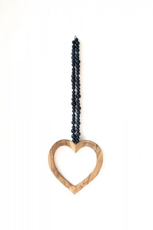 houten hart woonketting, woonketting madumadu, wooden heart, wooden heart madumadu
