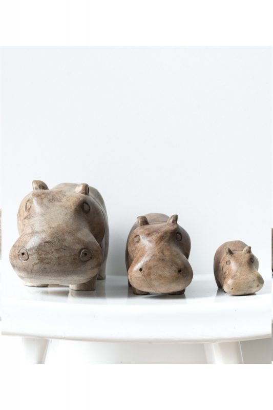 wooden hippo, hippo, hippo family, hippo madumadu