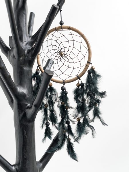 dreamcatcher black mini, dreamcatcher madumadu, dromenvanger madumadu