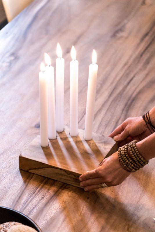 candleholder, candleholder madumadu, kandelaar madumadu, wooden candleholder, houten kandelaar